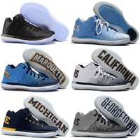 Wholesale Size 31 - 2017 Top Quality 31 XXXI Low Black Cat Banned California Michigan George Sports Basketball Shoes for 31s Men's SHOES Size 7-12