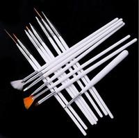 Wholesale Nail Art Brush Set Dhl - 15 pcs  set Nail Art Decorations Brush Set Tools Professional Painting Pen for False Nail Tips UV Nail Gel Polish 500 set DHL Free Shipping