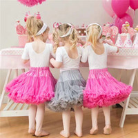 Wholesale Girls Wearing Pettiskirts - 2017New Baby Girls Tutu Skirts Bow Gauze Fluffy Pettiskirts Tutu Princess Party Skirts Ballet Dance Wear High Quality