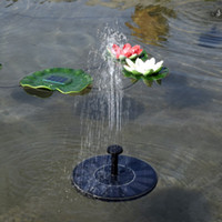 Wholesale 2w Water - Float Round Water Pump Black Miniature Landscape Solar Pumps Used For Fountain Pool Garden Plants Watering Kit New 45bs A