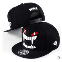 Wholesale WUKE Big teeth south Korean baseball cap hipster hats in hip hop hat
