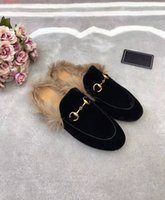 Wholesale Ladies High Quality Slippers - top quality The new high-end customization luxury real leather baotou inner fuzz fashion quality ladies slippers