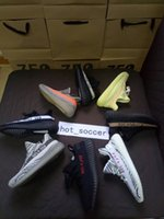 Wholesale Bag For Shoes Sport - With Socks+Box+Bag Kanye West Boost 350 V2 Running Shoes for Men SPLY-350 men's Shoes Boots Sports Shoes Sneakers Boost 350 V2 Sply Receipt