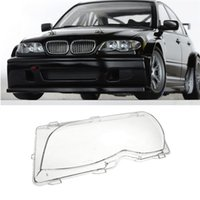 Wholesale Bmw E46 Headlight - For 2001-2005 BMW 320 - 330xi E46 4D Left & Right Headlight Lens Plastic Cover Set New Pair