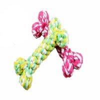 Wholesale Cheap Chew Toys - Cotton Meteria Colorful Rope Bone Shape Pet Toy Cat Dog Chew Teethers For Cleaning Teeth Cheap For Small Middle Pets Size 50PCS LOT