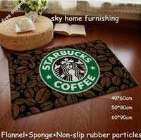 Wholesale Door Carpets - Tapete Para Banheiro Carpet Kitchen New! Home Decoration Door Mat Carpet Starbucks Series Flannel Slip for Windows And Pad Floor