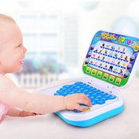 Barato Escola De Brinquedos-New Baby Kids Pre School Educational Learning Study Toy Laptop Computer Game tablet infantil