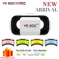 Wholesale Helmet Games - Wholesale- Google Cardboard VR BOX 3.0 III PRO Virtual Reality Goggles Casque 3D Glasses 3 D Vrbox Video Game For Smartphone Helmet Headset