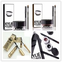 Kylie Eyeshadow Gel Pennello Pennello Pennello 3 Pezzi Plus Mascara Eyeliner Set Liquido 2 pezzi Kylie Jenner Eye Make up