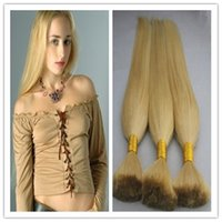 Wholesale Human Hair Weave For Braiding - Cheap #613 bleach blonde bulk hair for braiding 100g virgin brazilian hair bulk human braiding 7a blonde bulk hair extensions