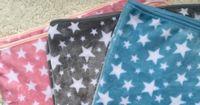 Wholesale Star Fleece Blanket - 100*74cm 150x100cm soft pink blue grey star blanket baby plush coral fleece blanket kids throw nap blankets adult gift