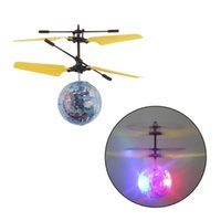 Wholesale Wholesale Disco Balls Lights - Chamsgend RC Toy EpochAir RC Flying Ball RC Drone Helicopter Ball Built-in Disco Music With Shinning LED Lighting for Kids