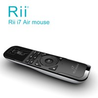 All'ingrosso Rii i7 mini Fly Air mouse senza fili di telecomando incorporato 6 controllo assi per PC, Smart TV, Box Android, rilevamento di movimento del giocatore