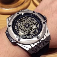 Wholesale Cheap Big Dial Watches - AAA High Quality Cheap New Brand Big 415.NX.1112.VR.MXM16 Skeleton Dial Automatic Mens Watch 901L Steel Leather Strap Sport Wristwatches