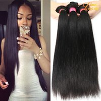 Atacado 8A Mink Brazilian straight Hair Unprocessed Brazilian Human Hair Bundles Weave Weft Barato Brazilian Virgin Straight Hair Extension