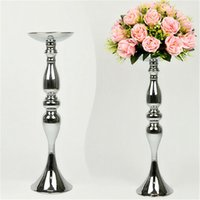 Wholesale Led Christmas Candle Sticks - handle honder candlelaburm flower planter 3 colors metal candle stand wedding centerpiece event roal lead folwer rack home decoration (7)