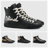 Wholesale Tiger Animation - 2017 Top Brand Designer Genuine Leather Boots For Women & Men Luxury Casual Shoes Letter Panther Tiger Sneaker