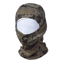Wholesale Full Mask Respirator - Wholesale- Mask respirator Camouflage Army Cotton Cycling Motorcycle Cap Balaclava Hats Full Face Mask bandana maske skateboard 1767 P40