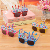 ingrosso occhiali per candele-Bambini Birthday Party Glasses Foto Puntelli Eyewear Festival Cartoon Recycled Candle Coniglio Ballon Regali Decorazione del partito Forniture F2017714