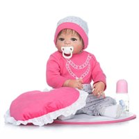 Wholesale Real Love Doll Girls - Real Dolls Reborn 57cm 23inch Full Silicone Baby Dolls Toys Fake Baby Girl Pink Love Pillow Kids Bathing Doll