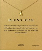 Wholesale Rose Gold Star Necklace - Rising Star Dogeared Necklace (Rising Star) Noble and Delicate Jewelry 18K Gold Charm Necklace Pendant Necklace Good Gift For Women Girls