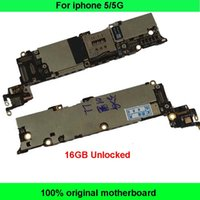 Wholesale Motherboard Testing - Tested Good Working Original Factory Unlocked 16GB Motherboard for iPhone 5 5G Mainboard for iPhone5 5G Logic Board IOS system