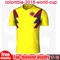 ceb976a08 Top THailand Quality COLOMBIA 2018 WORLD CUP HOME KIT 18 19 COLOMBIA  National Team Home Away Soccer Jersey FALCAO JAMES Football Shirts ...