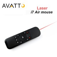 Mouse mini aria senza fili a raggi infrarossi 2.4Ghz con comandi a raggi laser per i PC / Smart TV / Android Box / PS3