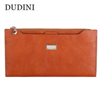 Wholesale Cheap Ladies Passport Wallet - Wholesale- DUDINI PU Leather Women Wallet 5 Colors Zipper Multifunction Long Wallets Ladies Clutch Handbag Cheap Coin Purse Card Holder