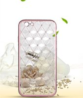Wholesale Iphone Diamond Gel Case - Luxury Ultra Thin Transparent Clear Soft TPU Gel Diamond Bling Crystal Back Cover For Samsung J710 HUAWEI P9 OPPO R7S With Retail Package