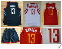 Wholesale Cheap American Shirts - #13 James Harden New Mens Stitched Embroidery Sewed American Vintage Retro Cheap basketball shirts Uniforms Sports Pro Team Jerseys For Sale
