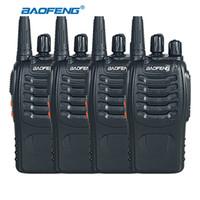 ingrosso ricetrasmettitori radiofonici a mano-All'ingrosso- 4pcs BaoFeng BF-888S Radio bidirezionale UHF 400-470MHz Palmare Walkie Talkie CB Ham Radio Trasmettitore Baofeng 888S Transceiver