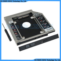 "Wholesale Hdd For Asus - Wholesale- 2.5"" SATA Aluminum SATA 2nd Hard Disk Drive SSD HDD Caddy Adapter bay for Asus N43JF N43JM N43JQ N43SL N43SM N43SN Series laptop"
