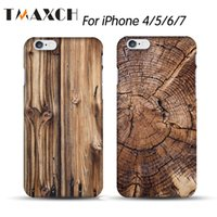 Tampa de capa de madeira natural para capinhas iphone8 7 6s mais 5 5s SE Original Bamboo Plastic PC Hard Case Coque Fundas