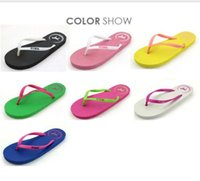 Wholesale Sew Candy - summer han edition love pink puppy crystal flip-flops candy color cool slippers at home