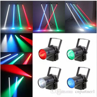 2017 RGB única cor Efeito 5W LED Beam Spot Light branco / vermelho / verde Partido DJ Bar Stage Light Pinspot Lights Effect Projector lamps