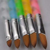 nuevas decoraciones de uñas al por mayor-5 Unids Nuevo Acrílico Pintura 3D Dibujo UV Gel DIY Herramienta Pluma Pincel Nail Art Set # R476