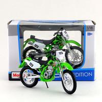 Wholesale Kawasaki Klx - Free Shipping Maisto 1:18 Motorcycle KAWASAKI KLX 250SR Model Diecast Toy Collection Educational Exquisite Gift For Children