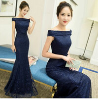 Wholesale White Dinner Cocktail Dress - New Arrival Hot Sale Fashion Special Elegant Luxury Princess Banquet Sequins Slim Colorful Bride Toast Host Dinner Annual Prom Evening Dress