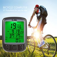 Wholesale Digital Lcd Bike Bicycle Computer - Free Shipping New Multifunction Digital Speedometer Odometer LCD Waterproof Bike Bicycle Cycling Computer Speedo Backlight - Black