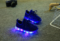 Wholesale Kids Boy Cute Cool - Luminous New sandals Fashion Cute LED Lighting Children Shoes Lovely Kids Sneakers High Quality Cool Boy trainer Girls tenis