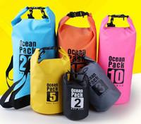 Wholesale Waterproof Bag 3l - PVC Tarpaulin Dry Bag Swimming Bag Women Men Unisex Waterproof Sports Swim Gym Travel Beach Outdoor Bags 2L 3L 5L 10L 15L 20L