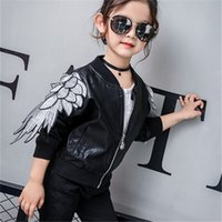 Wholesale Leather Jackets For Children Girls - 2017 Sale Special Offer Solid Spring Kids Jacket Pu Leather Jackets Clothes Children Outwear For Baby Clothing Coats Costume