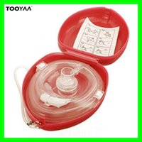 Wholesale One Artificial - CPR Resuscitator Artificial Breathing Masks Health Care First Aid Rescue Training Mouth to Mouth Emergency Mask One-way Valve Tools
