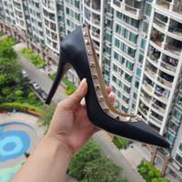 neue hochzeits sandalen großhandel-Kostenloser Versand! 35-41 Neue 2017 Mode mode dame High Heels schuhe echt rindsleder echtes leder 9,5 cm Hochzeit Schuhe Pumps Stud Sandalen