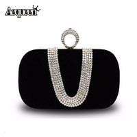 Wholesale evening clutch bags womens - Wholesale-Woman Evening Diamond-studded Clutch Bag New Fashion Europe Luxury Female Pouches Womens Rhinestone Banquet Diamond Bags