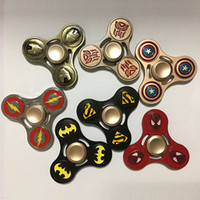 Wholesale Naruto Big - 2017 American Captain Superman Spiderman Skull Hand Spinner Fidget Spinner Naruto Adult Tri-Spinner Fidget Decompression Toys WX-T29