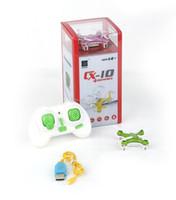 nuevos juguetes de control remoto al por mayor-Nuevo Cheerson CX-10 Mini 2.4G Control remoto Juguetes RC Drone Quadcopter rc helicóptero 4 canales 2.4GHz 6 ejes A147