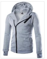 Wholesale Cheapest Cashmere Sweaters - Cheapest Men's sports hooded zipper plus cashmere sweater suit