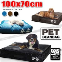 LARGE Pet Dog Cat Bed Bean Bag Outdoor Waterproof PVC Nylon Trois couleurs